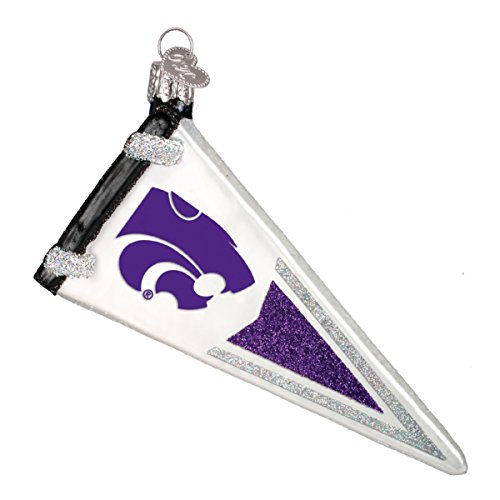 - Old World Christmas Kansas State University Wildcats Pennant Ornament 61806 New