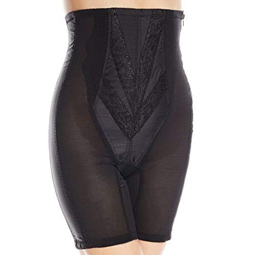 Rago Women's Plus-Size Extra Firm Zippered High Waist Long Leg Shaper (XX), Black, 10X-Large (50)