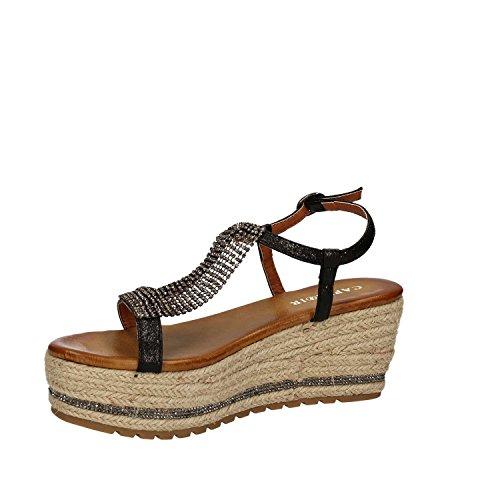 CafèNoir MHM919 Zapatos De Cuña Mujer Negro