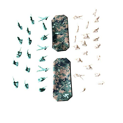 - Hope Products Toy Soldier Army Men 40-50 Pack with Tan and Green Toy Soldiers and 2 Carrying Pouches for Storage. Great Party Favors or Stocking Stuffers for Kids