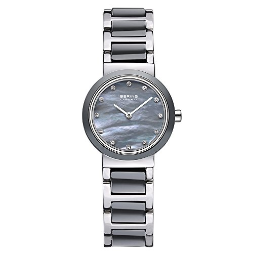 BERING Time 10725-789 Womens Ceramic Collection Watch with Stainless steel Band and scratch resistant sapphire crystal. Designed in Denmark.