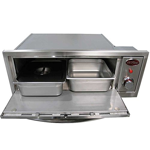 Cal Flame BBQ14967E 2-in-1 Built-In Stainless Steel Warmer and Pizza Oven by Cal Flame