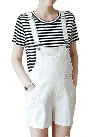 2018 Nueva primavera y verano ropa de las mujeres embarazadas baberos traje coreano marea de moda Jeans agujero pantalones cortos de mezclilla