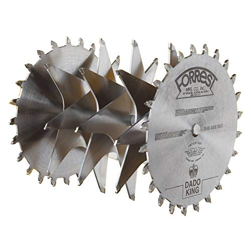 - Forrest DK08244 Dado King 8-Inch 24/4 Tooth 29/32-Inch Kerf Saw Blade with 5/8-Inch Arbor
