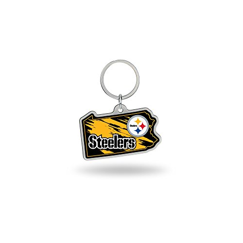 (Rico Industries NFL Pittsburgh Steelers State Shape Keychain)