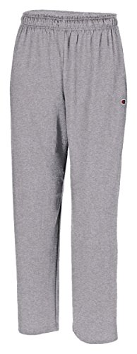 Champion Authentic Men's Open Bottom Jersey Pants_Oxford Grey_X-Large