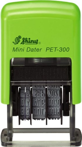 Shiny PET 300 Self Inking Date Stamp 38mm Character Height