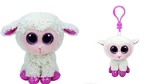 Ty Twinkle the Lamb Beanie Boo Set of 2 - Medium and Clip