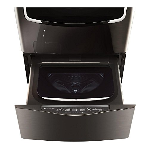 LG SIGNATURE 29 in. 1.0 cu. ft. SideKick Pedestal Washer in Black Stainless Steel