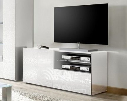 Arredocasagmb.it mobile porta tv 1 anta 1 cassetto moderno BIANCO ...