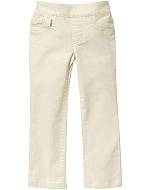 Baby Girls' White Corduroy Pant