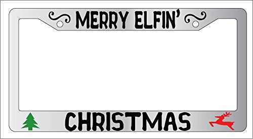 chrome-license-plate-frame-mery-elfin-christmas-auto-accessory-ebsk-ama