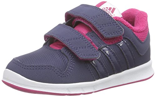 adidas Unisex Baby Trainer 6 Sneaker Grau (Midnight Grey / Midnight Grey / Bold Pink)