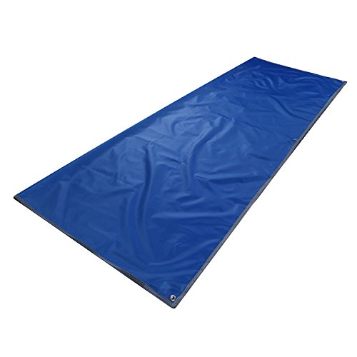 Topnaca 2-3-4 Person Outdoor Thickened Oxford Fabric Camping Shelter Tent Tarp Canopy Cover Tent Groundsheet Camping Blanket Mat (Blue - 3-4 Person)