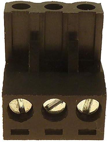 BRAND NEW BLACK AUDIOCONTROL 3 PIN TERMINAL POWER WIRE PLUG ~ HIGHEST QUALTY!