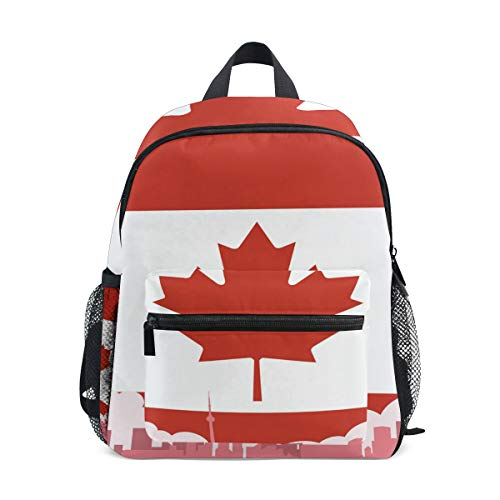 CHLBOJ Canadian Flag Canada Kids Backpack Pre-School Bag for Kindergarten Toddler Boy Girls
