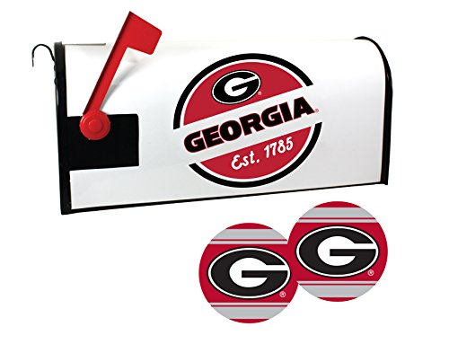 Georgia Bulldogs Magnetic Mailbox Cover and Sticker Set (Georgia Bulldog Mailbox Cover)