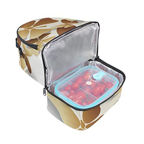 doradas de y Bolsa diseño ajustable correa aislamiento pincnic el de con para para escuela almuerzo hombro Alinlo mariposas de la 1fqHw1