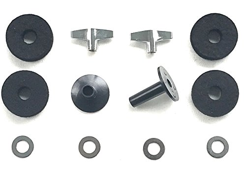 Accessory Cymbal Kit (Drum Starz Accessory Bundle -2 Long CYMBAL SLEEVES, 4 Deluxe FELTS, 2 WING NUTS & 4 WASHERS)