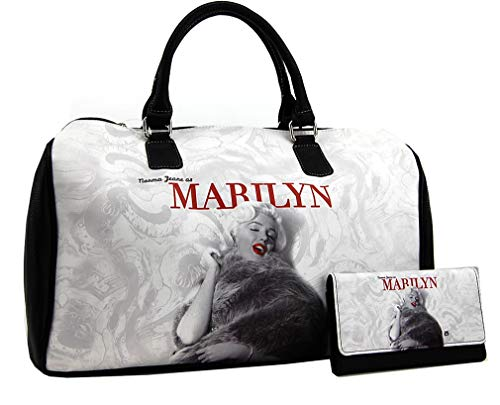 Marilyn Monroe Large Travel Bag and Wallet Set, Norma Jeane as Marilyn, MM9123-SET ()