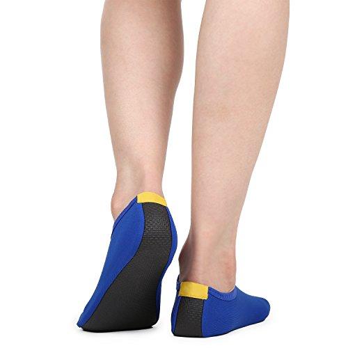 Sole Aerobics Shoes Yoga Blue Upgraded Shoes Barefoot Shoes Skin Water Exercise Surf Beach Aqua Hestya Socks Swim TcWIqpYp