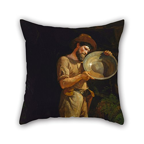Bestseason 16 X 16 Inches / 40 By 40 Cm Oil Painting Julian Ashton - The Prospector Pillowcase,twice Sides Is Fit For Study Room,bench,couch,car,birthday,kids Boys (Ashton Bench)