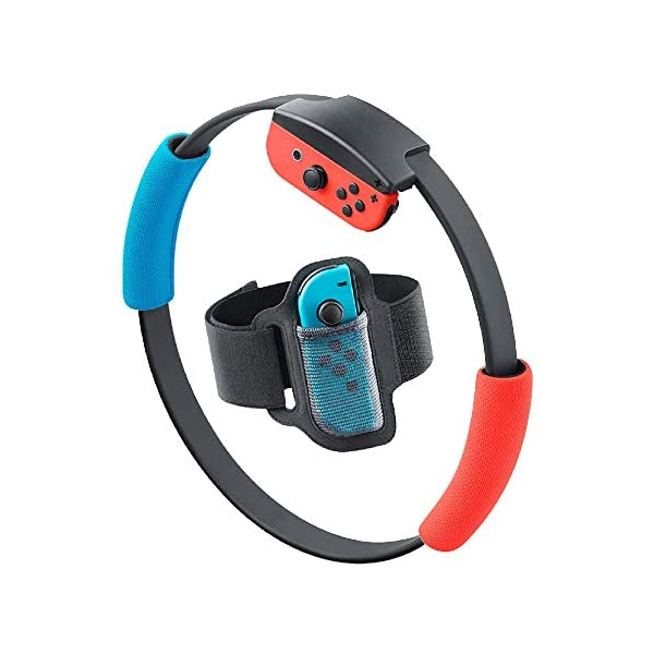 SweetCom Ring-Con Grips and Adjustable Leg Fixing Strap for Nintendo Switch Fit Adventure Game (NOT Include Ring-Con) 1