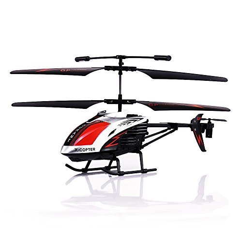 "GPTOYS G610 11"" Durant Built-in Gyro Infrared Remote Control Helicopter Large Model 3.5 Channels with Gyro and LED Light for Indoor Ready to Fly"