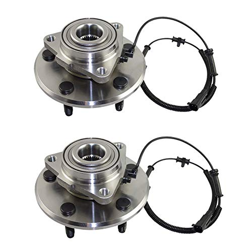 Detroit Axle - (Both) Front Wheel Hub and Bearing Assembly for 2006 2007 2008 Dodge Ram 1500