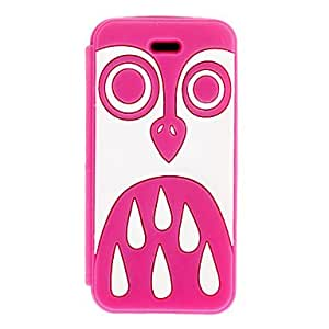 White Owl Pattern Silicagel Clamshell Full Body Case for iPhone 5/5S , Black