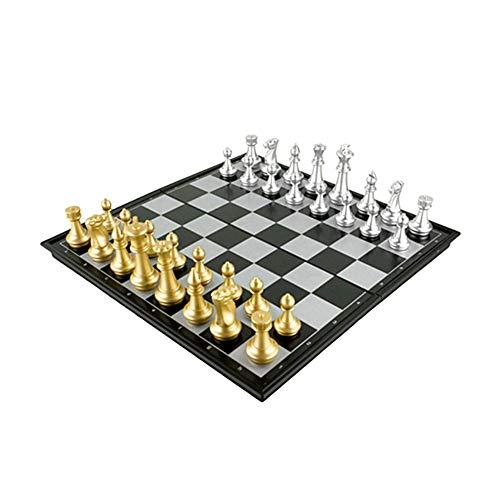 yinyinpu Ajedrez para Ni?Os Ajedrez Magnetico Juego de ajedrez de Madera Juegos de ajedrez para niños Tablero de ajedrez…