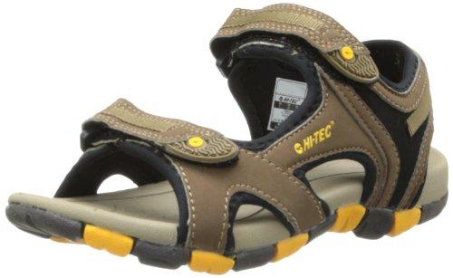 Hi-Tec Kid's GT Strap Junior Sandal (Toddler/Little Kid/Big Kid),Smokey Brown/Taupe/Gold,7 M US Big Kid