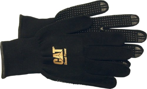 Caterpillar CAT017406L Dotted String Knit glove with Diesel Power Logo, Heavy Gauge Glove, size Large.