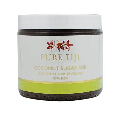 - Pure Fiji Sugar Rub, Coconut Lime Blossom, 15.5 Ounce