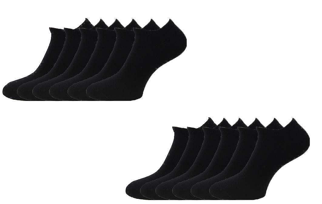 Acobonline 12 Pares Show calcetines de corte bajo de algodón para ...