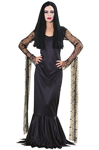 Morticia From The Addams Family Costumes (Rubie's Women's The Addams Family Morticia Costume, Black, Large)