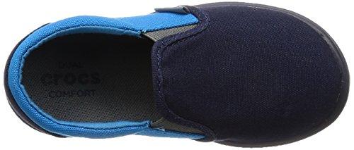 crocs Unisex-Kinder Citilane Slip-On Sneaker Kids Low-Top Blau (Navy/Ocean)