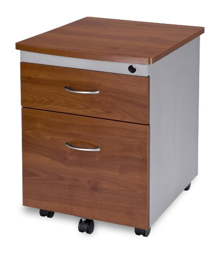 OFM Modular Mobile Pedestal 2-Drawer File/Box Cabinet, White