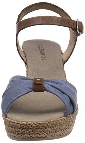 Arqueonautas Murdeira-2 - Sandalias de vestir de cuero para mujer azul - Blau (Blue)