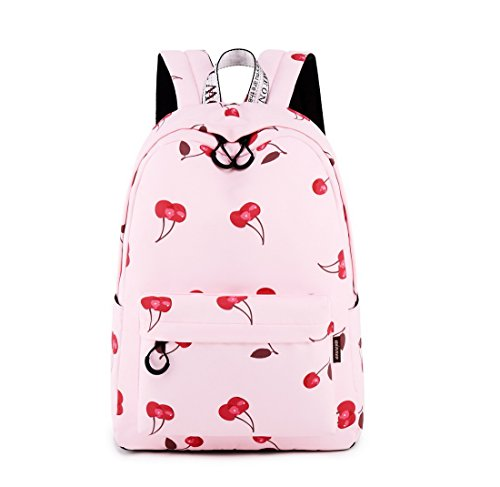 Acmebon Waterproof Stylish School Backpack for Teen Girl Roomy Backpack Purse for Women Cherry ()
