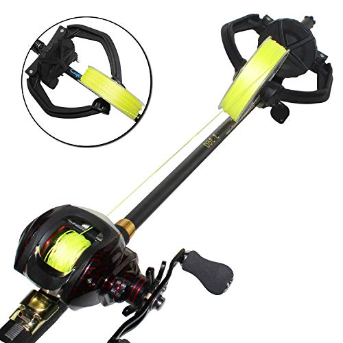 Thekuai Fishing Line Spooler Portable Spooling Station System Fishing Reel