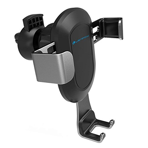 LENPOW Cell Phone Holder for Car, 360° Rotation Gravity Auto-Clamping Air Vent Phone Mount Holder Cradle for iPhone X 8 7 Plus, Samsung Galaxy S9 Plus S8 Plus and More - up to 6.2