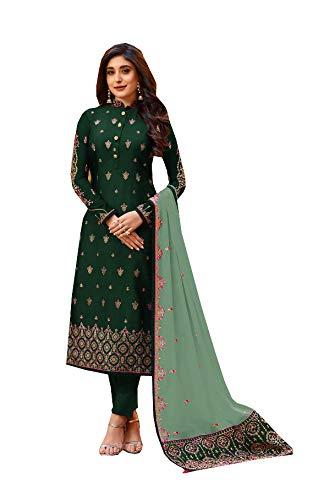 DELISA Ready Made New Designer indian/pakistani fashion salwar kameez for women 02 (Green 2, LARGE-42)