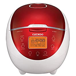 Cuckoo CR-0655F Rice Cooker & Warmer, 6 Cups, LCD-Display 11-Menu Options, Turbo, Mixed, and Brown/GABA, Porridge, Steam…