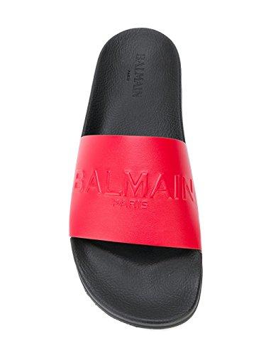 Balmain Sandalias de Vestir Para Hombre Blanco/Rojo It - Marke Größe