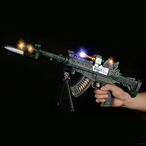 Fun Central AU050 21 Inch LED Light Up Sniper Rifle with Shooting Sounds, LED Sniper Toy Gun - for Christmas Party, Birthday Party, Costume Party, Themed Party,Party Favors, Gifts, Prizes, Rewards by Fun Central