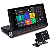TOOGOO Central Control Desktop Carlog 16G 1080P Folding 7 Inch 4G Full Netcom Android Navigator Bluetooth Voice Control Reversing Rear View Image Double Record Map Of Europe