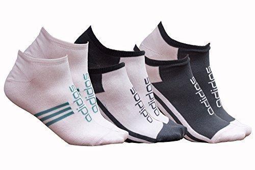 3 juego corte bajo revestimiento interior para tobillo o calcetines de Adidas - Blanco de verde y blanco - de mujer para senderismo Unisez para hombre: ...