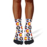 Tasbon Migny Hills Mens All-Season Sports Socks Colorado Athletic Socks for Men