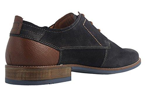 FRETZ men - Zapatos de cordones de Piel para hombre azul azul